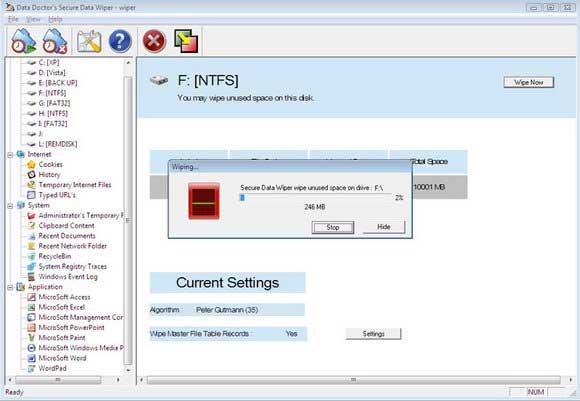 Hard Disk Erasing Utility screen shot